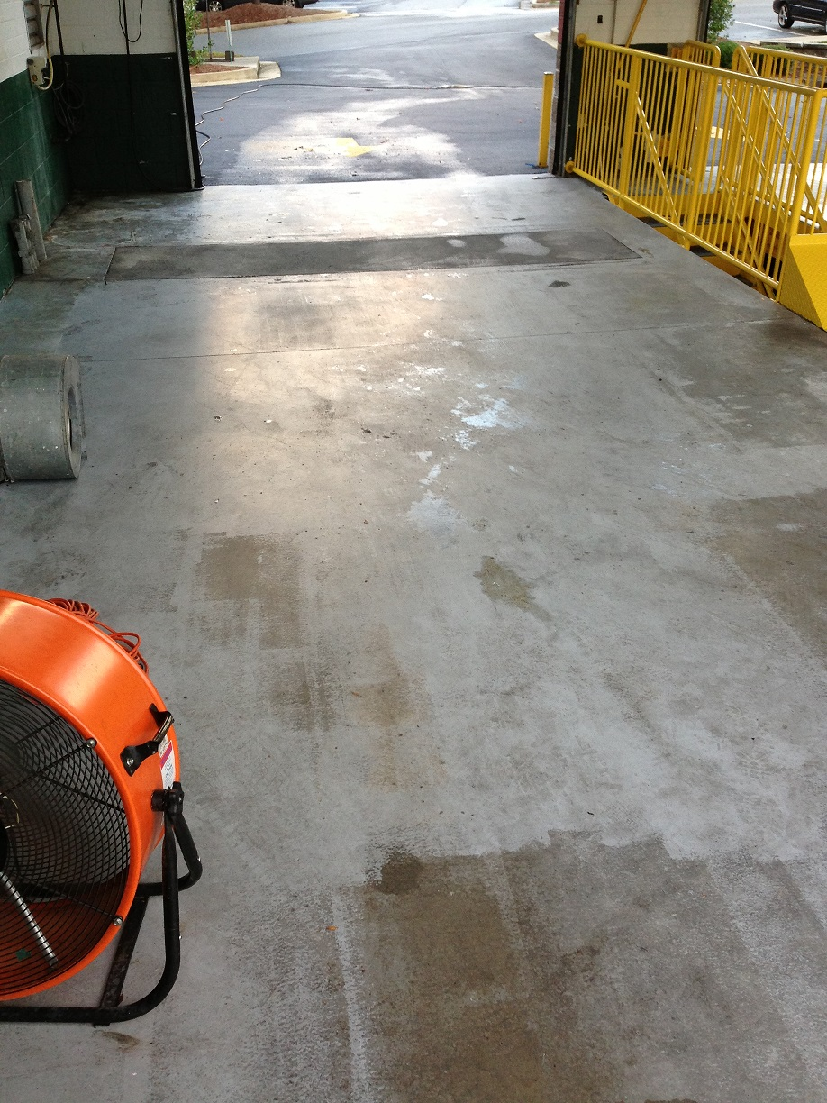 Concrete floor finishing handyman home improvements for Getting grease off concrete